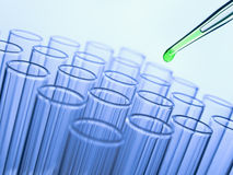 Test tubes and pipette Stock Image