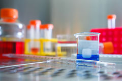 Test tubes and pipette. Close up of test tubes and pipette Royalty Free Stock Photography