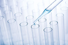 Test tubes and pipette Royalty Free Stock Image