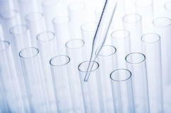 Test tubes and pipette Stock Images