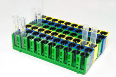 Test tubes on rack Stock Image