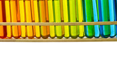 Test tubes in rack Stock Photography
