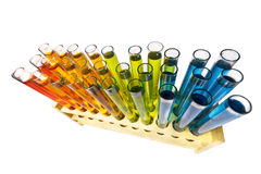 Test tubes in rack Royalty Free Stock Photos