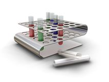 Test tubes in a rack Stock Photography