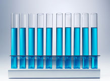 Test tubes in a rack Stock Image
