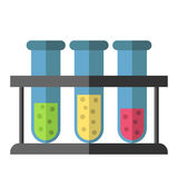 Test tubes rack isolated Royalty Free Stock Images
