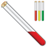 Test tubes with reagents Royalty Free Stock Photos