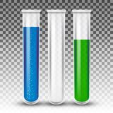 Test tubes realistic  Royalty Free Stock Photos