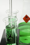 Test Tubes in Research Lab Stock Images
