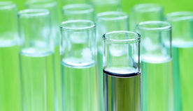 Test tubes in a research laboratory Royalty Free Stock Images