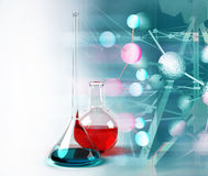 Test tubes science background Royalty Free Stock Images