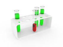 Test tubes on a support Royalty Free Stock Photos