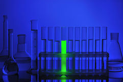 Test tubes in support Royalty Free Stock Image