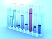 Test tubes under blue light Royalty Free Stock Image