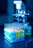 Test tubes used in research Stock Photos