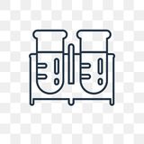 Test tubes vector icon isolated on transparent background, linea stock illustration