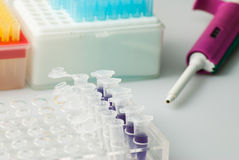 Test tubes and vials Stock Image