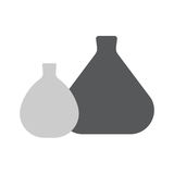 Test tubs line icon for web, mobile and infographics. Vector dark gray icon isolated on white background Stock Image