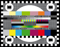 Test TV screen Royalty Free Stock Photo