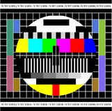 Test TV screen Royalty Free Stock Image