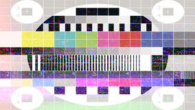 Test Tv. Test Signal. Vhs. Error Video Recording. stock footage