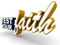 Test uw geloof vector illustratie