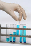Test vials Stock Photos