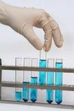 Test vials Stock Photos