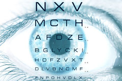 Test vision chart Royalty Free Stock Images