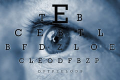 Test vision chart royalty free stock photo