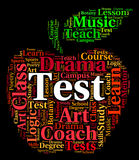 Test Word Indicates Examinations Text And Assessment Royalty Free Stock Images