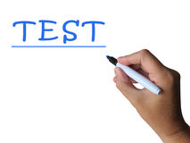 Test Word Means Examination Assessment And Stock Photos