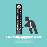 Test Your Strength Game Symbol. Royalty Free Stock Photo