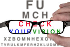 Free Test Your Vision Royalty Free Stock Images - 90145049