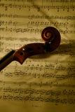 Testa 2 del violino Immagine Stock