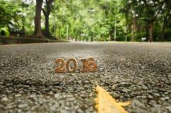 Testa al concetto 2016 della strada del nuovo anno Fotografia Stock Libera da Diritti