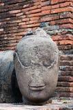 Testa antica del buddha Fotografia Stock