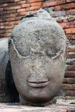Testa antica del buddha Fotografie Stock