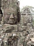 Testa antica della pietra di Bayon Tample a Angkor Thom, Cambogia, così Fotografia Stock