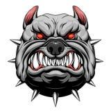 Testa arrabbiata del bulldog royalty illustrazione gratis