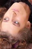 Testa arricciata della donna Fotografia Stock