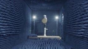 Testa a av en radar i en anechoic kammare lager videofilmer