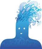 Testa blu Immagine Stock