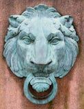 Testa bronzea del leone Fotografia Stock