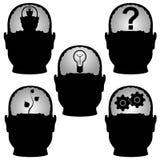 Testa-cervello. royalty illustrazione gratis