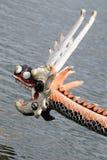 Testa cinese della barca del drago Fotografia Stock