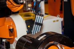 Testa compatta della saldatura a laser Fotografia Stock Libera da Diritti