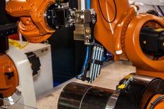 Testa compatta della saldatura a laser Fotografie Stock Libere da Diritti