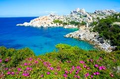 Testa de capo - belle côte de la Sardaigne image libre de droits