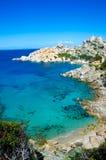 Testa de capo - belle côte de la Sardaigne images stock